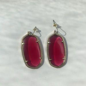 Kendra Scott Danielle Earrings-Cranberry Color